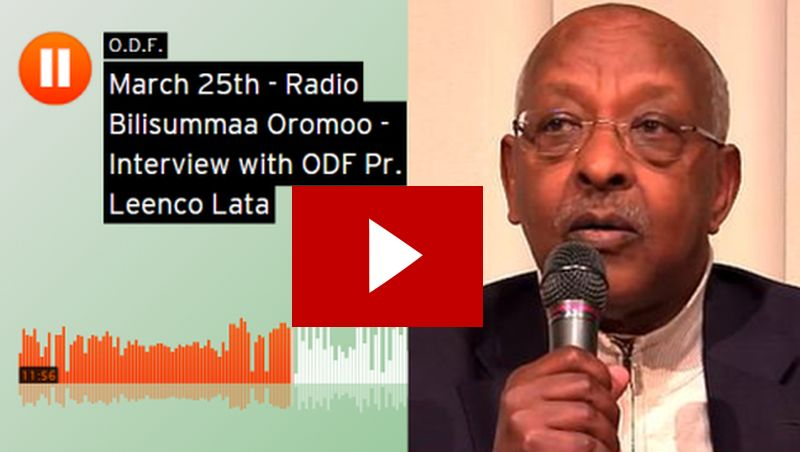 "News Just In | Ob. Leenco Lata Breaks Silence, Speaks to ODF-Radio About the ODF Finfinne ""Visit"""