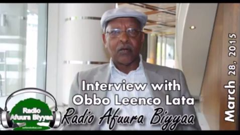 Radio Afuura Biyyaa: Interview with Ob. Leenco Lata of ODF (March 28, 2015)