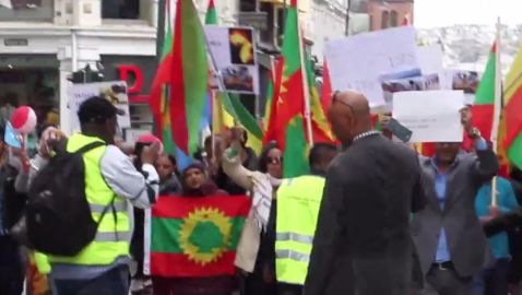 Oromo & Other Africans Rally in Oslo Against Terrorism in South Africa, Libya, including Against the State Terrorism in Ethiopia